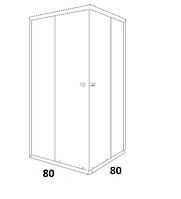Душові кабіни квадратні Dusel 80х80