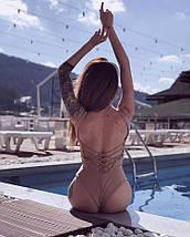 Слитный женский купальник / XS-L, разные цвета, AL-Lady-X, фото 2