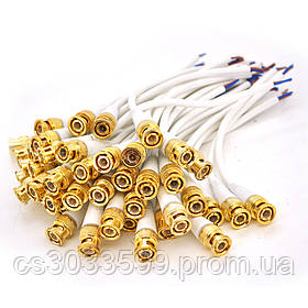 Роз'єм живлення двожильний BNC-M => кабель довжиною 10см, White, OEM Q50