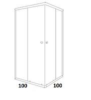 Душові кабіни квадратні Dusel 100х100