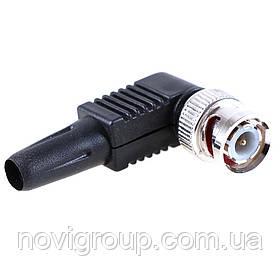 Роз'єм BNC-M-кутовий, пластиковий кожух та гвинт для фіксації кабелю