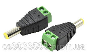 Роз'єм для підключення живлення DC-M (D 5,5x2,1мм) з клемах під кабель (Yellow Plug)
