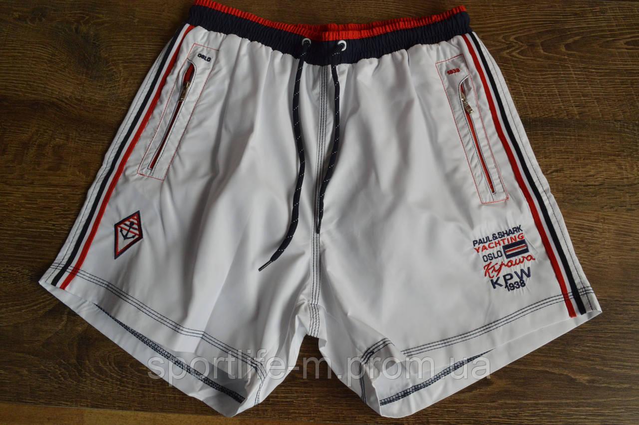 5036-Мужские шорты пляжные Paul Shark-2020/ Белые/