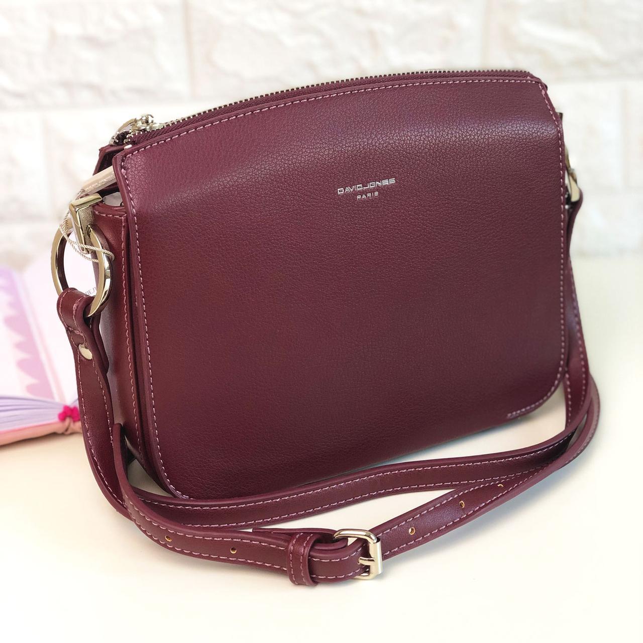 Жіноча сумка через плече David Jones СМ3598А Бордова