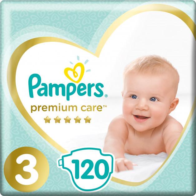Підгузки Pampers Premium Care 3 (6-10кг), 120шт