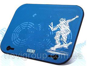 "Підставка під ноутбук Pccooler V18, 10-14 "", 2 * 130mm BLUE LED 1000 ± 10% RPM, корпус пластик, 2xUSB 2.0,"