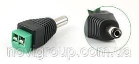 Роз'єм для підключення живлення DC-M (D 5,5x2,1мм) з клемах під кабель (Black Plug)