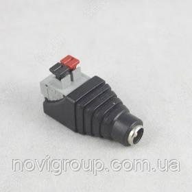 Роз'єм для підключення живлення DC-F (D 5,5x2,1мм) із клемах під ручний зажим під кабель