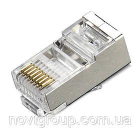 Конектор RITAR RJ-45 8P8C FTP Cat-6 екранований (100 шт / уп.) Q100