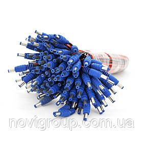Роз'єм живлення DC-M (D 5,5x2,1мм) => кабель довжиною 30см black-red, Blue Plug OEM Q100