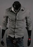 Рубашка мужская Техас серый, фото 1