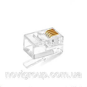 Конектор RITAR RJ-11 4P4C UTP Cat-3 (100 шт / уп.) Q200