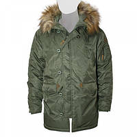 Мужская зимняя куртка аляска Top Gun N-3B Parka TGN-3B (Olive), фото 1