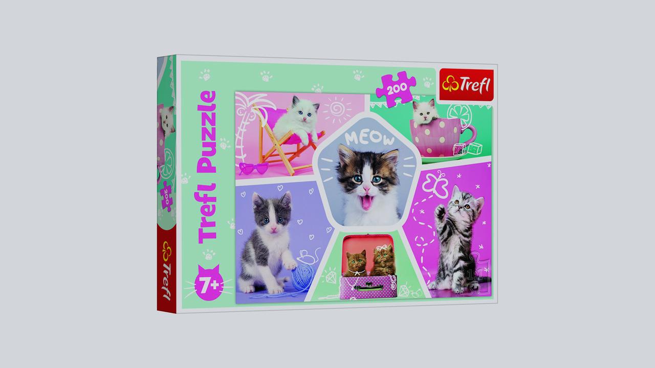 Пазлы Веселые котята Trefl 13247. 200 элементов