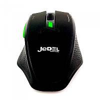 Беспроводная игровая компьютерная мышь Jedel W400 черная, геймерская, для компьютера