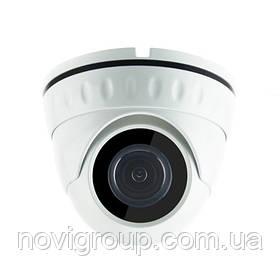 1MP камера купольна корпус метал AHD / HDCVI / HDTVI / Analog 720р MERLION (об'єднання єктив 3.6 мм / ІК підсвічування