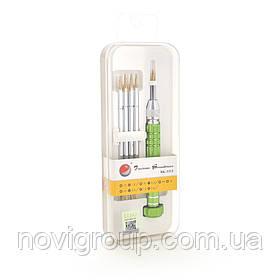 Набір викруток BAKKU BK-3315 (ручка + torx T2, torx T3, orx T4, torx T5, orx T6, хрест +1.2 мм, хрест +1.8 мм,