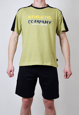 Чоловіча піжама (футболка + шорти), фото 2