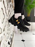 Мужские кроссовки Under Armour Scorpio Running shoes black/gold(Топ качество)