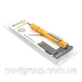 Набір інструментів BAKKU BK-327 (Ручка + 6насадок), Blister