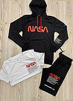 Мужской комплект Худи Футболка Шорты NASA/ Чоловічий комплект Худі Футболка Шорти