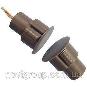 Врізний магнітоконтакт коричневий, струм 60mA, напуга 12B, тип контактів Н / З, робоча відстань 18 ± 5% мм,