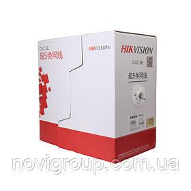 Кабель витая пара для внутренней прокладки 24AWG Cu UTP Cat 5E Hikvision DS-1LN5E-E/E, 305м