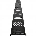Вертикальний кабельний організатор 24U до шаф MGSE, (ширина 120 мм)