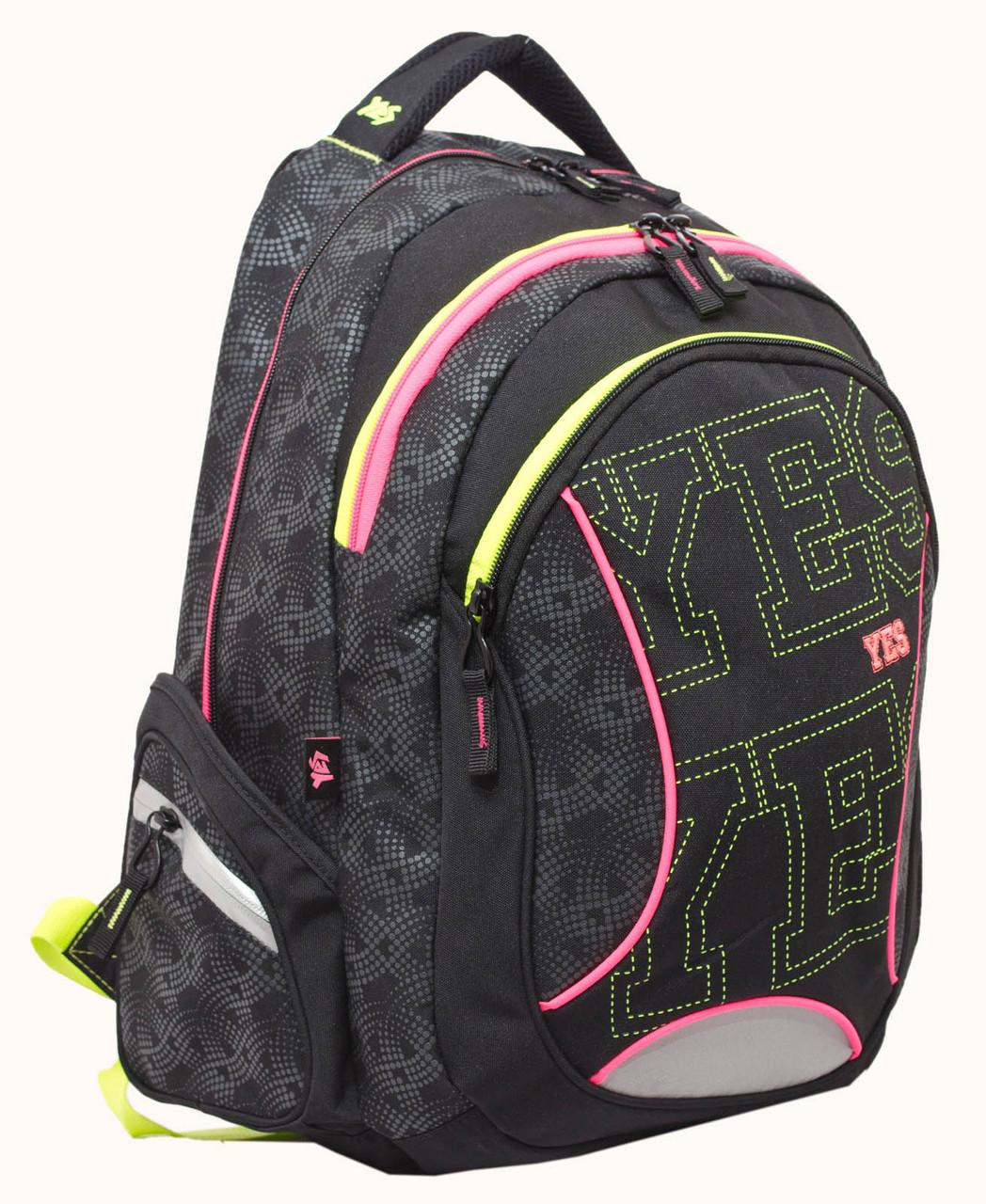 Рюкзак школьный для подростка YES Т-24 Neono 42*32*23см код: 552658