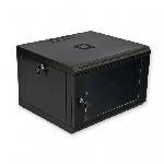 Шафа 6U, 600x500x373мм (Ш*Г*В), економ, акрилове скло, чорна