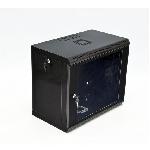 Шафа 9U, 600x350x507мм (Ш*Г*В), економ, акрилове скло, чорна