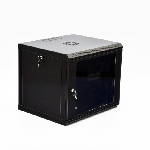 Шафа 9U, 600x500x507мм (Ш*Г*В), економ, акрилове скло, чорна