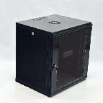 Шафа 12U, 600x500x640мм (Ш*Г*В), економ, акрилове скло, чорна