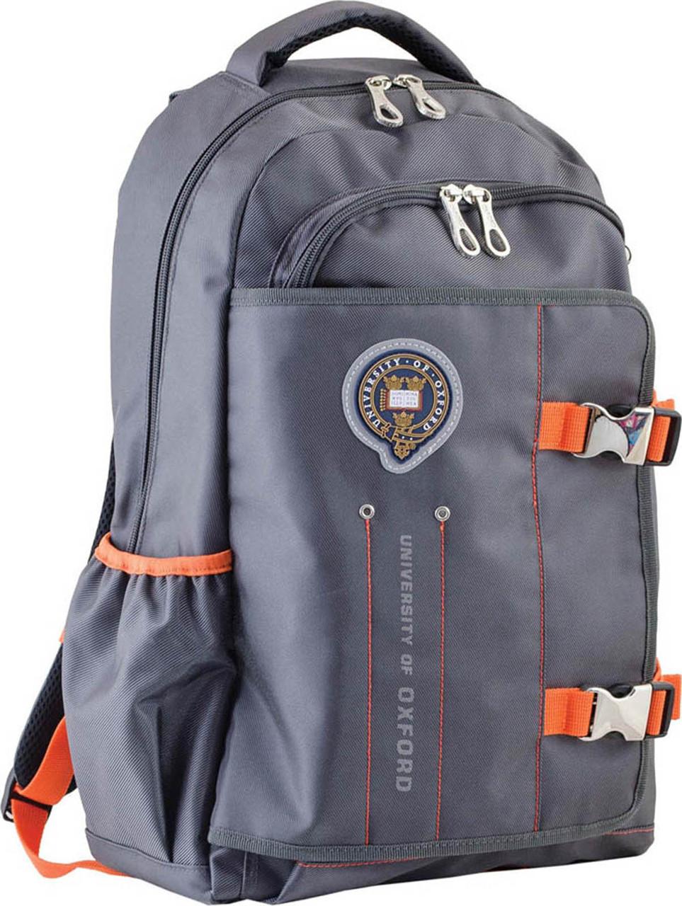 Рюкзак городской YES  OX 302, серый, 30*47*14.5 код: 554009