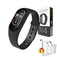Смарт часы Xiaomi Mi Band M4 / Фитнес-браслет для спорта / Трекер + ПОДАРОК!