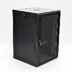 Шафа 18U, 600х600х907мм (Ш*Г*В), економ, акрилове скло, чорна