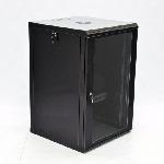 Шафа 18U, 600x600x907мм (Ш*Г*В), економ, акрилове скло, чорна