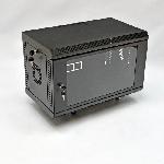 Шафа 6U, 600х350х373 мм (Ш*Г*В), акрилове скло, чорна