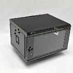 6U Шафа, 600х500х373 мм (Ш*Г*В), акрилове скло, чорна