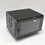 Шафа 6U, 600х500х373 мм (Ш*Г*В), акрилове скло, чорна