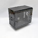 9U Шафа, 600х350х507 мм (Ш*Г*В), акрилове скло, чорна