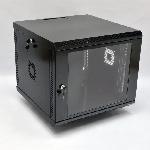 9U Шафа, 600х600х507 мм (Ш*Г*В), акрилове скло, чорна