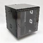 12U Шафа, 600х600х640 мм (Ш*Г*В), акрілове скло, чорна