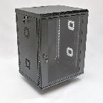 Шафа 15U, 600х600х773 мм (Ш*Г*В), акрилове скло, чорна