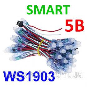 Светодиод быстрого монтажа (пиксель) RGB 5В, 12мм, SMART (WS1903)