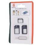 Перехідник для SIM карт NOOSY 3 в 1, micro-nano, micro-sim, nano-sim, Black