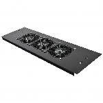 3-х вентиляторний блок в кришування для шаф MGSE 610 шир., чорний