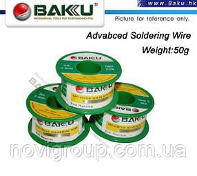 Припій BAKKU дротяний Solder wire BK10002 DIA 0,2 mm (50g)