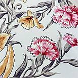 Аромат весни 899-2, павлопосадский хустку (крепдешин) шовковий з подрубкой, фото 10