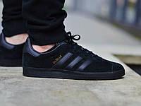 Кеды  Adidas Gazelle черные реплика